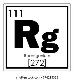 Roentgenium chemical element periodic table science symbol
