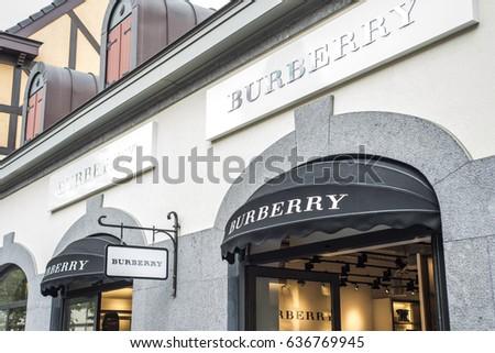d3ae7b92c Roermond Netherlands 07.05.2017 Logo of the Burberry Store in the Mc Arthur  Glen Designer