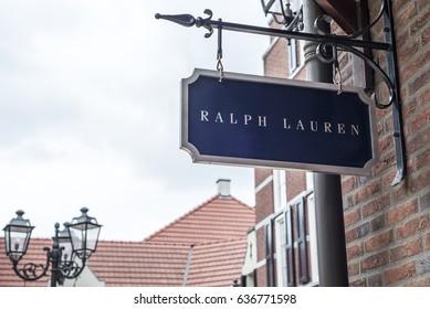 Roermond, Netherlands 07.05.2017 Logo Sign of Ralph Lauren Store Mc Arthur Glen Designer Outlet shopping area