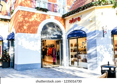 Roermond-Netherland : November16, 2018 : Outdoor Abre store at  Designer Outlet Roermond  shopping center in ,Shopping in black Friday concept, Grain noise effect