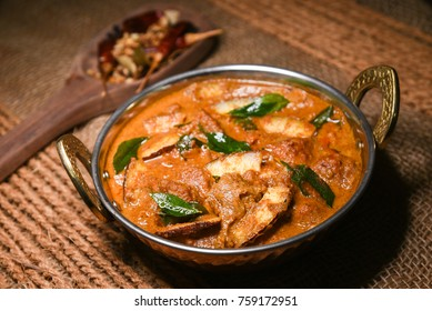Rogan Josh or Roghan Ghosht is hot and spicy mutton or goat curry soup prepared using spices, Kashmiri cuisine, India. Popular Indian non-vegetarian recipe.