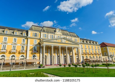 ROGASKA-SLATINA, SLOVENIA - MAY 26, 2018: View on Grand hotel. Copy space for text