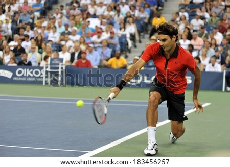 Roger Federer Public Appearance Us Open Stock Photo Edit Now