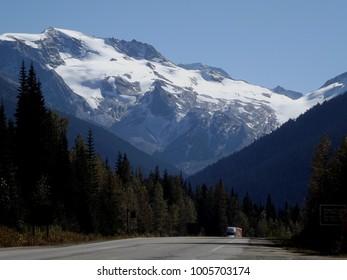 Rogers Pass at Glacier National Park, British Columbia, view at Trans Canada Highway