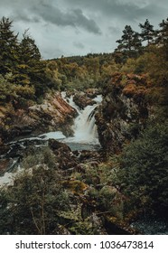 Rogie Fall, Black Water River in the Scottish Highlands