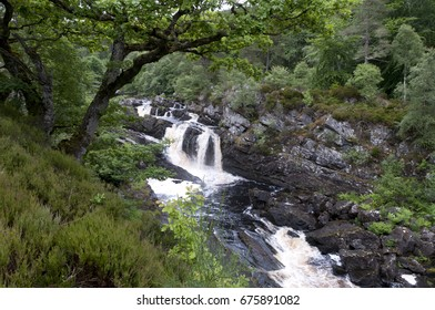 Rogie Falls in the Highlands of Scotland