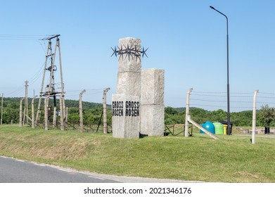 Rogoznica, Poland - June 3, 2021: Monument Gross-Rosen at Gross-Rosen museum. Gross-Rosen is former German Nazi concentration camp built and operated by Nazi Germany during World War II.