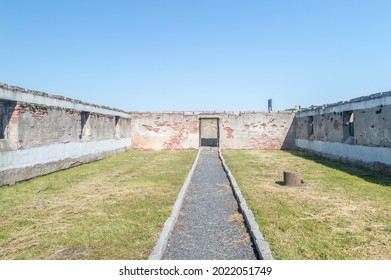 Rogoznica, Poland - June 3, 2021: Inside ruins of Gross-Rosen. Gross-Rosen was a Nazi concentration camps built and operated by Nazi Germany.