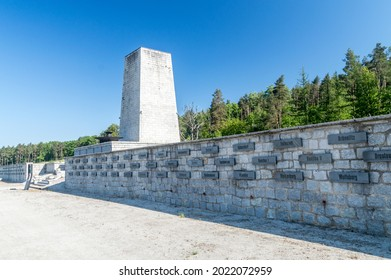 Rogoznica, Poland - June 3, 2021: Gross-Rosen memorial. Gross-Rosen was a network of Nazi concentration camps built and operated by Nazi Germany during World War II.