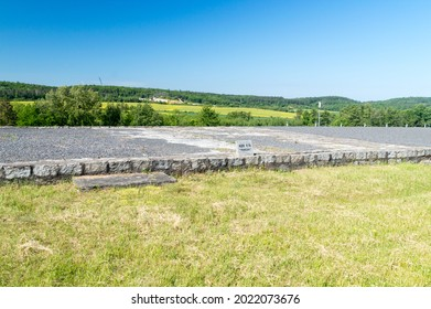 Rogoznica, Poland - June 3, 2021: Ruins block 910 at Gross-Rosen. Gross-Rosen was a Nazi concentration camps built and operated by Nazi Germany.