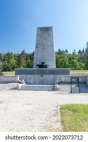 Rogoznica, Poland - June 3, 2021: Gross-Rosen memorial. Gross-Rosen is former German Nazi concentration camp built and operated by Nazi Germany during World War II.