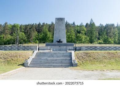 Rogoznica, Poland - June 3, 2021: Gross-Rosen memorial in former Nazi concentration camp Gross-Rosen.