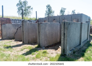Rogoznica, Poland - June 3, 2021: Dog kennel at Gross-Rosen museum. Gross-Rosen is former German Nazi concentration camp built and operated by Nazi Germany during World War II.