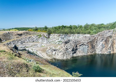 Rogoznica, Poland - June 3, 2021: Stone-pit at Gross-Rosen museum. Gross-Rosen is former German Nazi concentration camp built and operated by Nazi Germany during World War II.