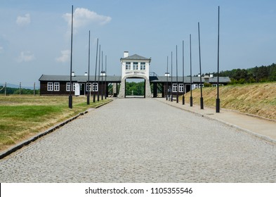 Rogoznica, Poland - MAY 15th 2018: Gross-Rosen concentration camp.