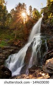 Rohacsky waterfall - West Tatras in Slovakia