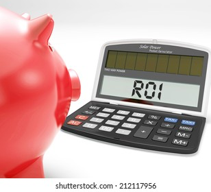 ROI Calculator Showing Investment Return Or Profitability
