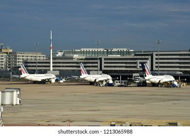 Roissy en France; France - august 26 2018 : the Charles de Gaulle airport