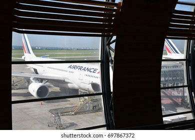 Roissy, France - may 5 2017 : the Paris Charles de Gaulle airport