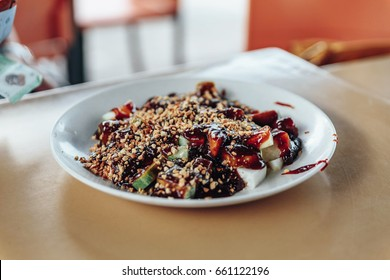 Rojak is a traditional fruit and vegetable salad dish commonly found in Indonesia, Malaysia and Singapore. Other than referring to this fruit salad dish.