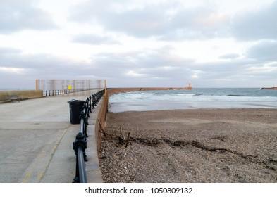 Roker Pier at Roker, Sunderland