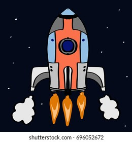 roket and space background