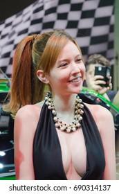 Rola Mizaki, Japanese AV actress,  at Bangkok international auto salon 2015