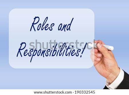 roles responsibilities の写真素材 今すぐ編集 190332545