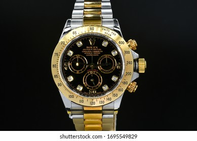 rolex watch was set to demonstrate its details on April 6 2020 in Bangkok Thailand