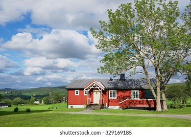 ROLI, NORWAY - JUNE 25, 2013: View to the traditional Norwegian house in Roli, Norway.
