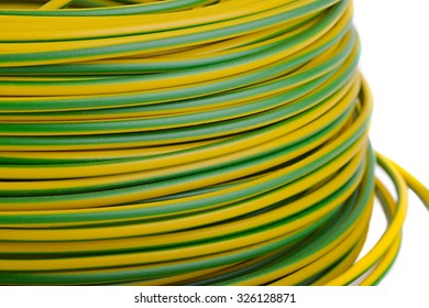 Electrical Electric Cable Wires Yellow Green Stock Photo (Royalty ...
