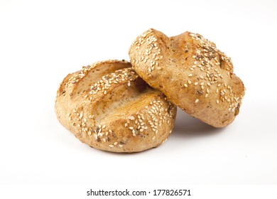 Roll bread isolated on white background