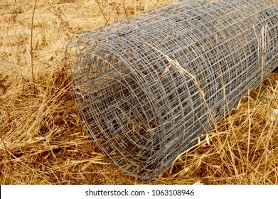 A roll of fresh chicken wire mesh for keeping the birds domesticated.