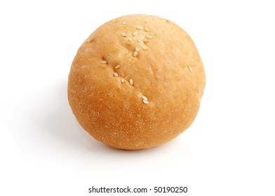 Roll for a hamburger on a white background