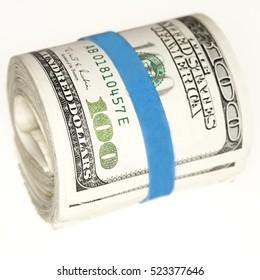 Roll of Hundred Dollar Bills - Lots of Cash