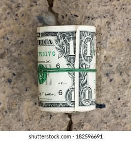 roll of one dollar