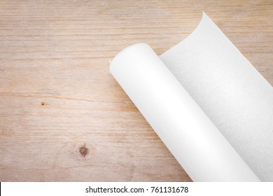 Blueprint paper blank stock photos images photography shutterstock roll of paper on wood table background engineer blueprint for draft work blank document malvernweather Choice Image