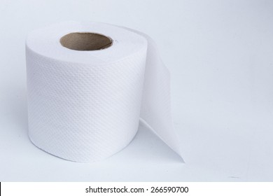 Roll of Paper Towel isolated on White Background.