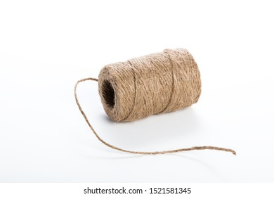 Roll of sisal rope isolated on white background