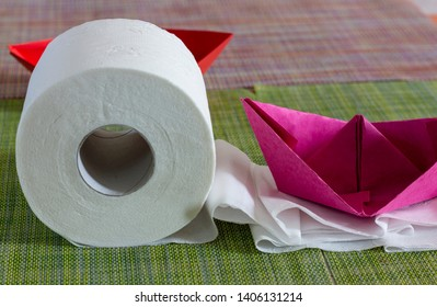 Roll of White Toilet Paper  Lifestyle Images, Stock Photos & Vectors