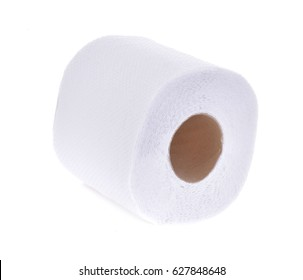 Roll the toilet paper on a white background