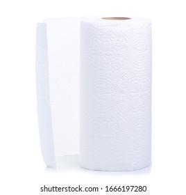 Roll white paper towel napkin