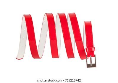 Rolled belt isolated on white background