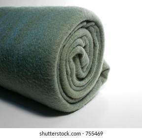 Rolled Fleece, green