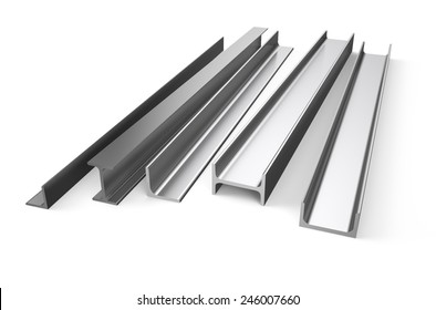 rolled metal stock isolated on white background