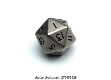 Rolled one on a silver twenty sided die.