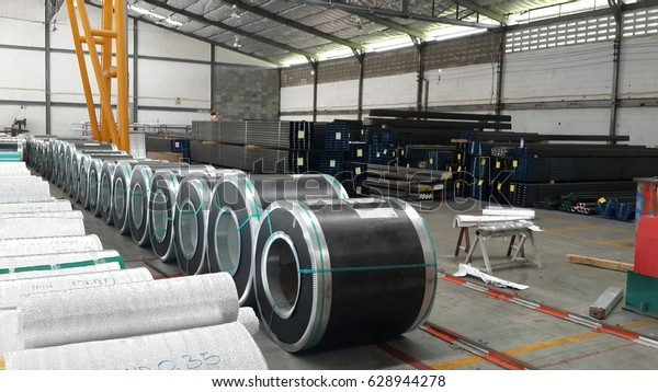 Rolled Steel Sheet Slit Coil Storage Stock Photo (Edit Now) 628944278