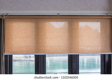 Roller blind sun protection.
