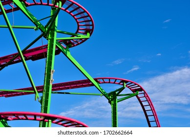 roller coaster in Genoa Italy