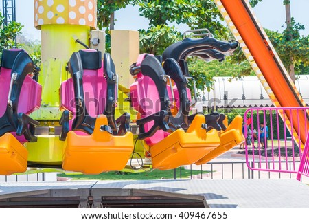 roller coaster seats at amusement park